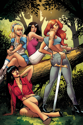 Red Sonja and Vampirella Meet Betty and Veronica #7 (30 Copy Sanapo Virgin Cover)