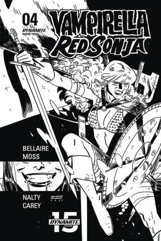 Vampirella / Red Sonja #4 (40 Copy Romero & Bellaire B&W Cover)