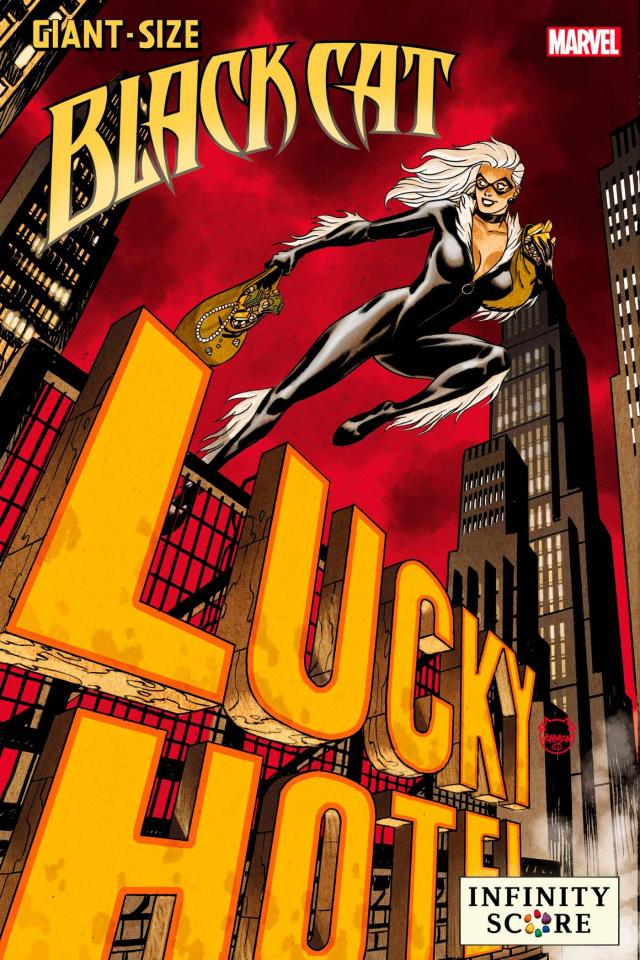 Giant-Size Black Cat: Infinity Score #1 (Johnson Lucky Cover)