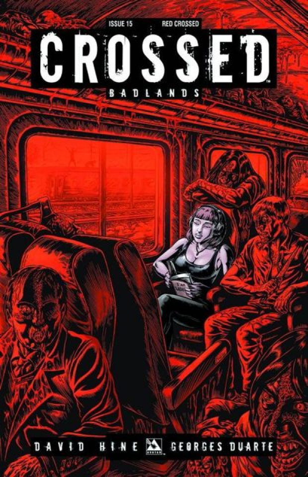 Crossed: Badlands #15 (Red Crossed Cover)