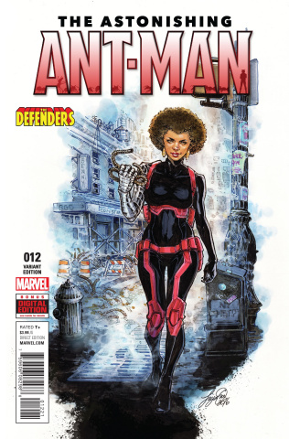 Astonishing Ant-Man #12 (Oum Defenders Cover)
