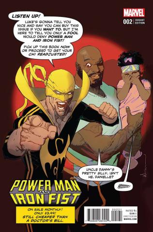 Power Man & Iron Fist #2 (Sienkiewicz Cover)