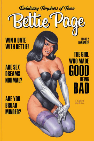 Bettie Page #2 (Linsner Cover)