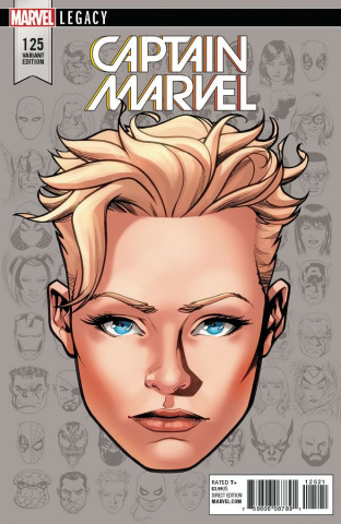 Captain Marvel #125 (McKone Legacy Headshot Cover)