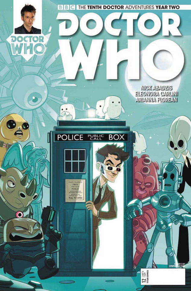 Doctor Who: New Adventures with the Tenth Doctor, Year Two #12 (Byrne Cover)