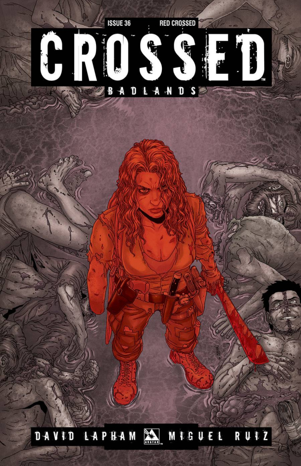 Crossed: Badlands #36 (Red Crossed Cover)