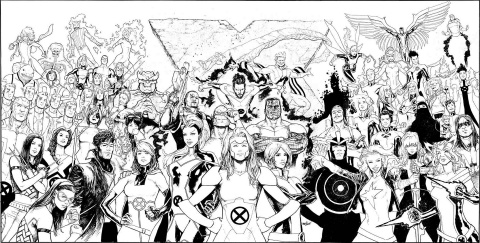 Uncanny X-Men #1 (Marquez Wraparound Gatefold Cover)