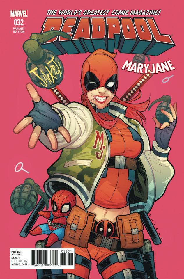Deadpool #32 (Torque Mary Jane Cover)