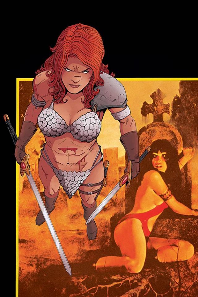 Vampirella / Red Sonja #2 (30 Copy Moss Virgin Cover)