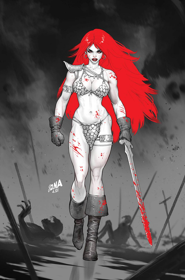 Red Sonja: Black, White, Red #2 (Nakayama Virgin Cover)