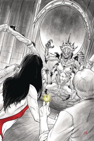Vampirella vs. Reanimator #4 (25 Copy Shepherd Virgin Cover)