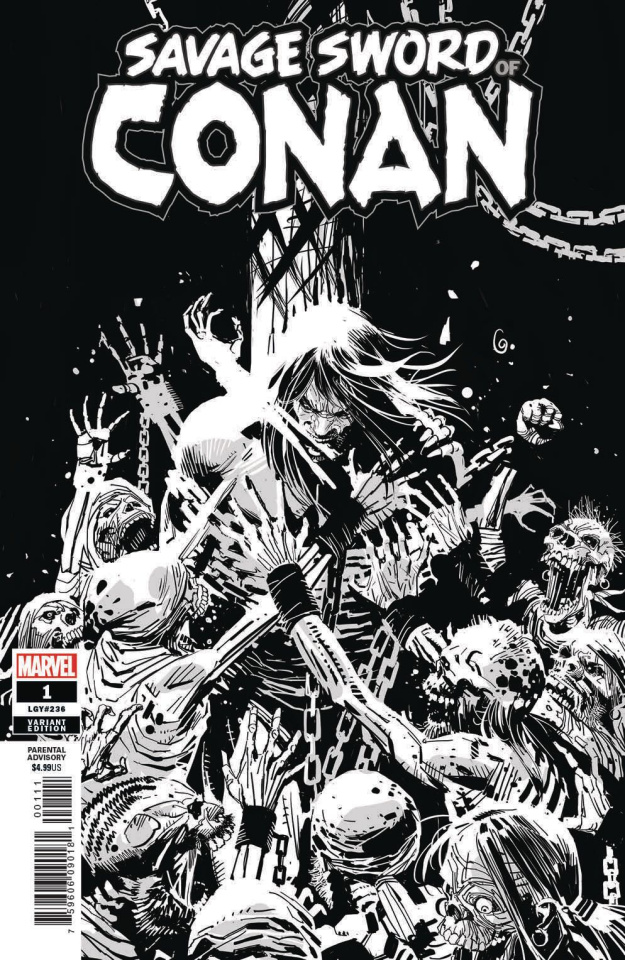 The Savage Sword of Conan #1 (Garney B&W Cover)