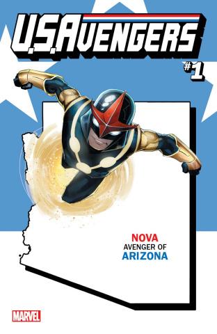 U.S.Avengers #1 (Reis Arizona State Cover)