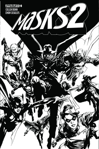Masks 2 #8 (15 Copy Guice B&W Cover)