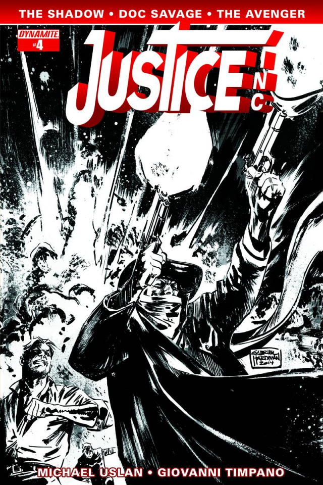 Justice, Inc. #4 (10 Copy Hardman B&W Cover)