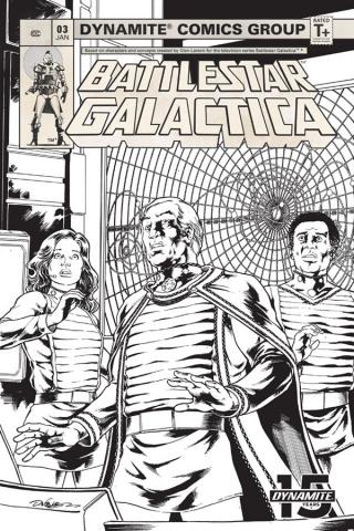 Battlestar Galactica Classic #3 (20 Copy HDR B&W Cover)