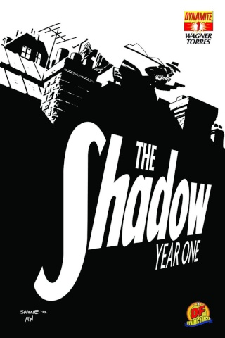 The Shadow: Year One #1 (Black & White Cover)