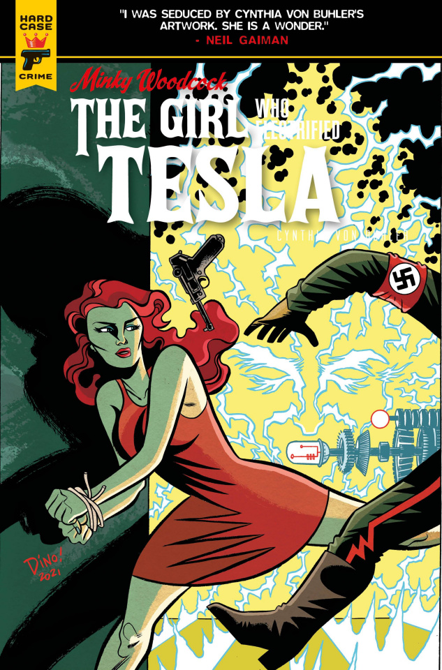 Minky Woodcock: The Girl Who Electrified Tesla #4 (Haspiel Cover)