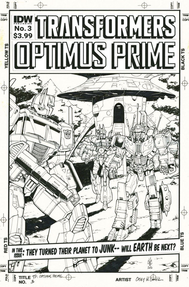 Optimus Prime #3 (Artist's Edition)