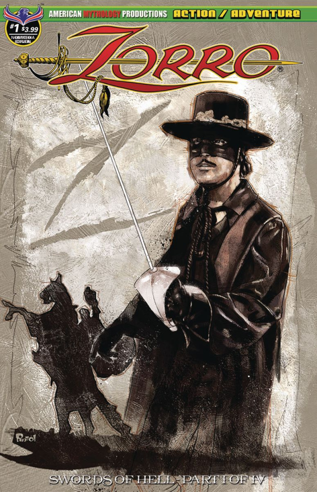 Zorro: Swords of Hell #1 (Pinto Classic Nostalgia Cover)