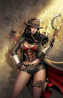 Grimm Fairy Tales: Van Helsing vs. The Mummy of Amun Ra #4 (Salo Cover)