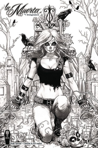 La Muerta: Vengeance #1 (Raw S&N Cover)