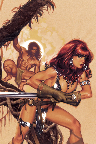 Red Sonja / Tarzan #1 (50 Copy Hughes Virgin Cover)