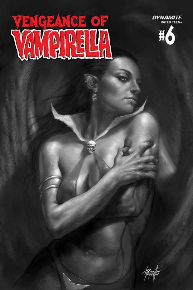 Vengeance of Vampirella #6 (21 Copy Parrilllo B&W Cover)