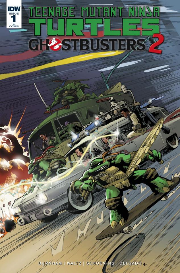 Teenage Mutant Ninja Turtles / Ghostbusters 2 #1 (10 Copy Cover)