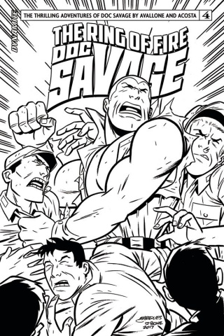 Doc Savage: The Ring of Fire #4 (20 Copy B&W Cover)