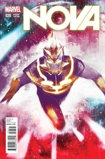 Nova #28 (Sorrentino Cosmically Enhanced Cover)