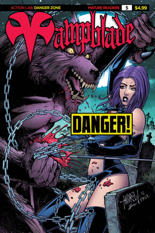 Vampblade #5 ('90s Monster Risque Cover)