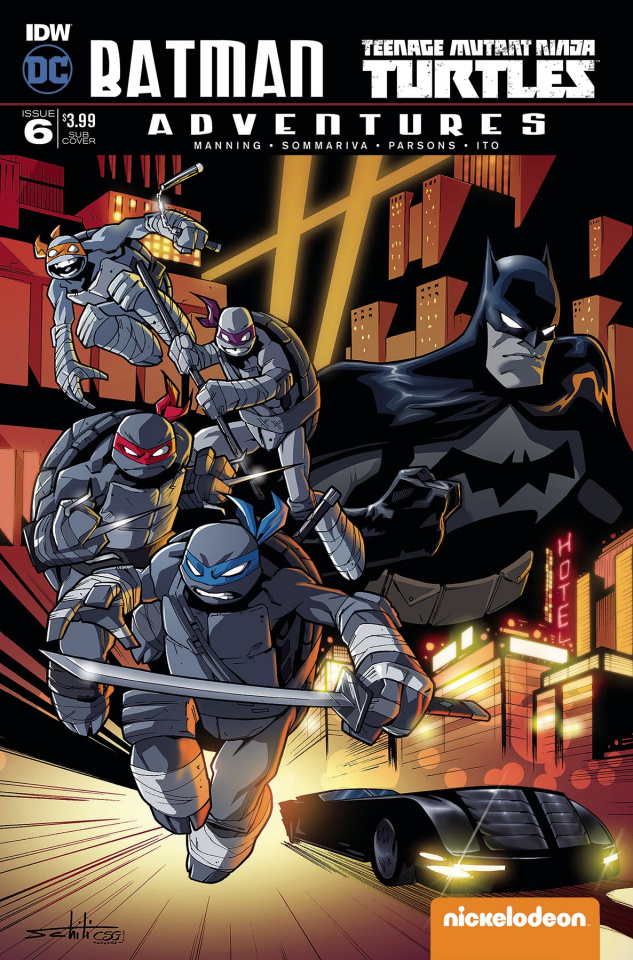 Batman / Teenage Mutant Ninja Turtles Adventures #6 (Subscription Cover)