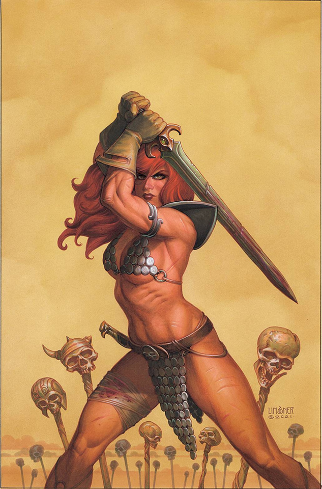 The Invincible Red Sonja #5 (Linsner Virgin Cover)