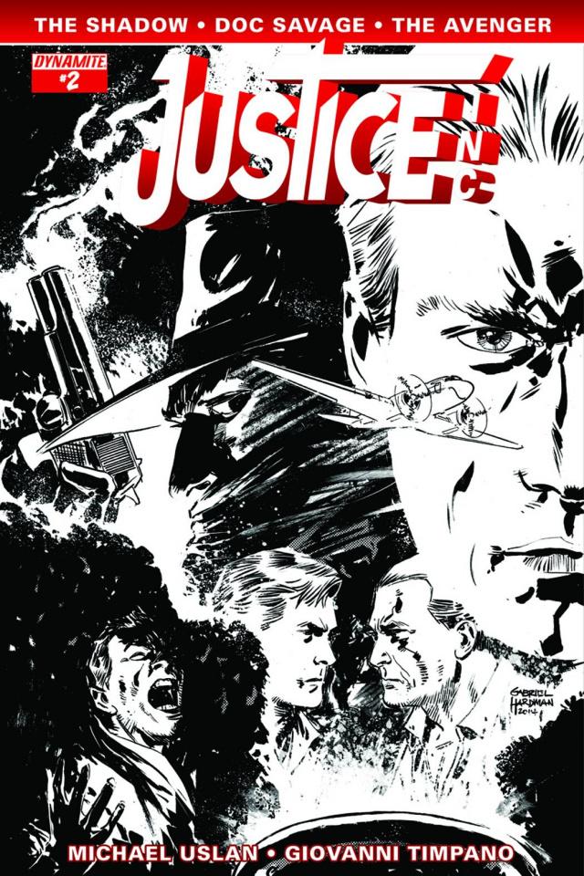 Justice, Inc. #2 (10 Copy Hardman B&W Cover)