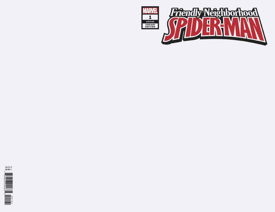Friendly Neighborhood Spider-Man #1 (Blank Cover)
