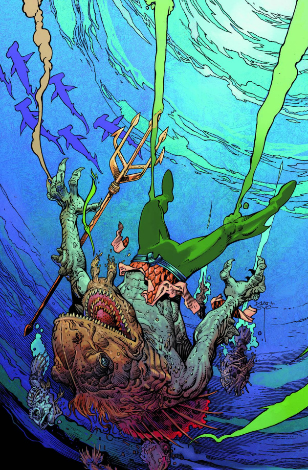 Aquaman #35 (Monsters Cover)
