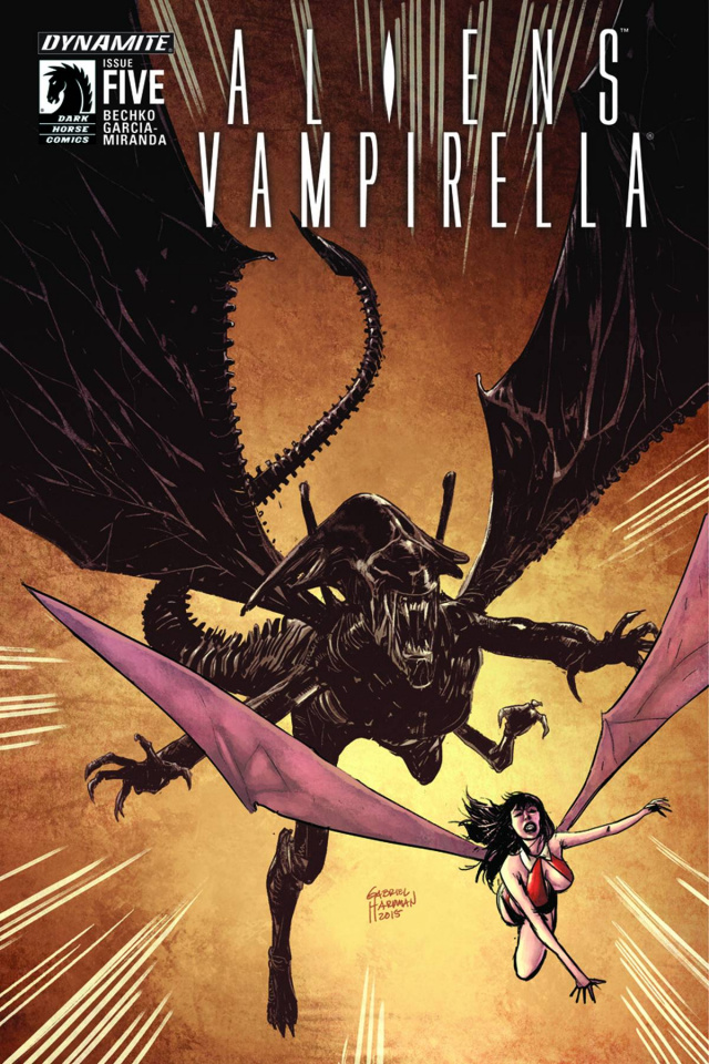 Aliens / Vampirella #5 (Hardman Cover)