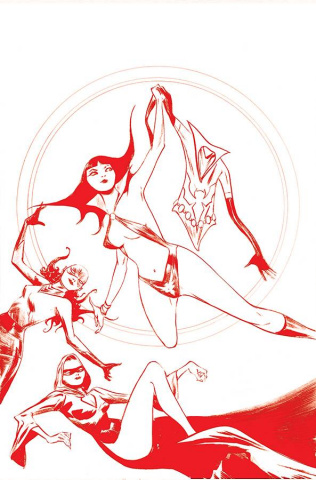 Vampirella: The Dark Powers #1 (Lee Crimson Red Line Art Virgin Cover)