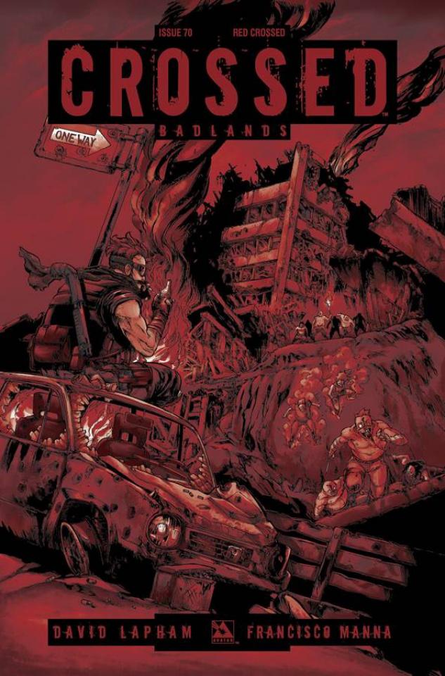 Crossed: Badlands #70 (Red Crossed Cover)