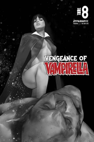 Vengeance of Vampirella #8 (30 Copy Oliver B&W Cover)