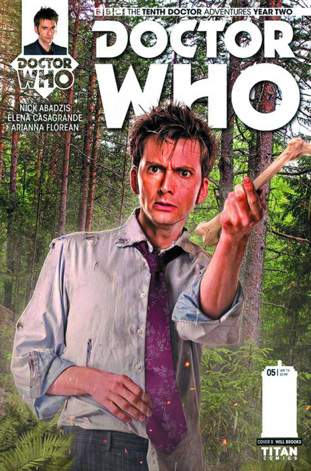 Doctor Who: New Adventures with the Tenth Doctor, Year Two #5 (Brooks Subscription Photo Cover)