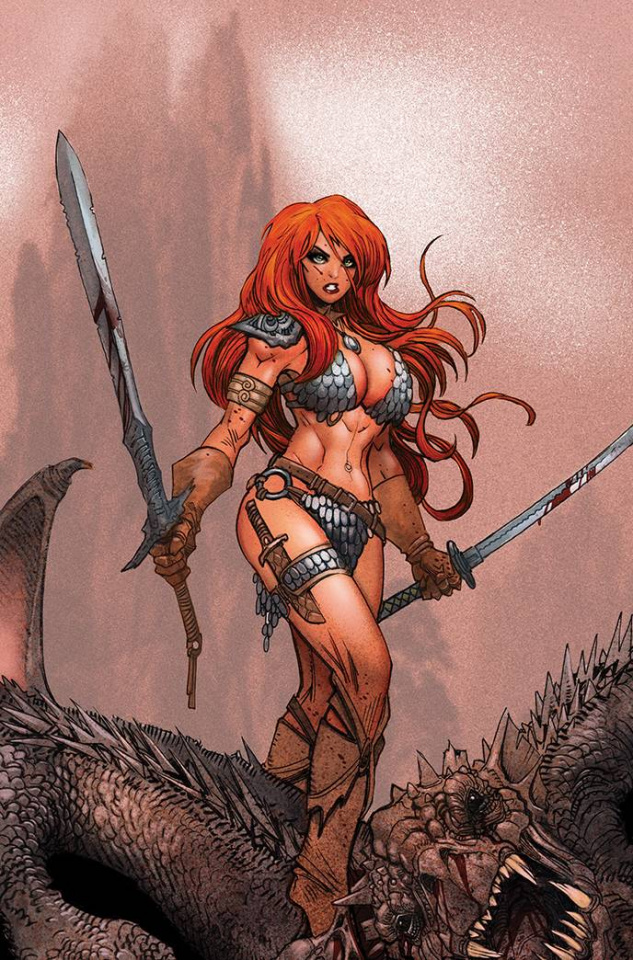 The Invincible Red Sonja #1 (21 Copy Moritat Virgin Cover)