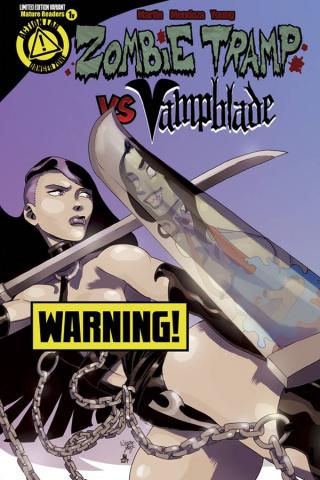 Zombie Tramp vs. Vampblade #1 (Vampblade Risque Cover)