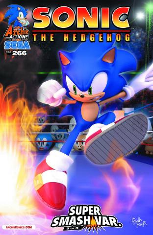 Sonic the Hedgehog #266 (Super Smash Cover)