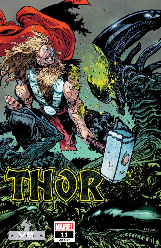 Thor #11 (Daniel Warren Johnson Marvel vs. Alien Cover)