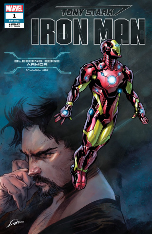 Tony Stark: Iron Man #1 (Fraction Salva Armor Cover)