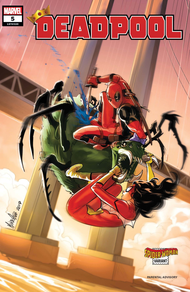 Deadpool #5 (Andolfo Spider-Woman Cover)