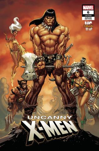 Uncanny X-Men #6 (Campbell Conan vs. Marvel Cover)