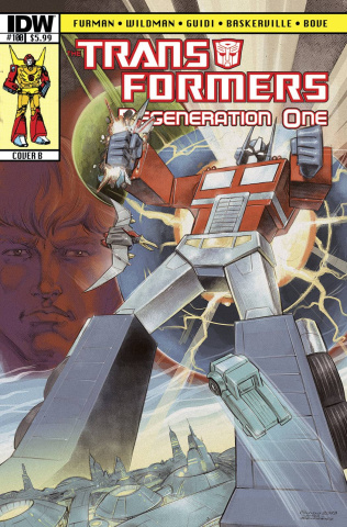 The Transformers: Regeneration One #100 (Subscription Cover)